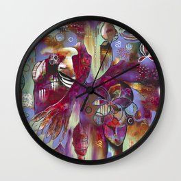 """Manifest"" Original Painting by Flora Bowley Wall Clock"
