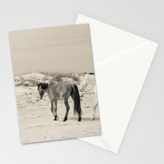 Wild Horses 6 - Black and White Stationery Cards