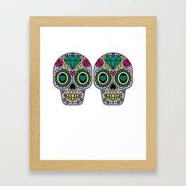 Day Of The Dead Sugar Skulls Bra Funny Calavera Framed Art Print