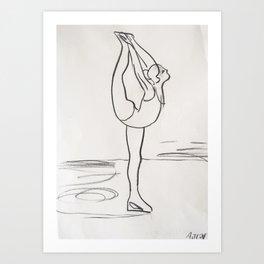Figure Skater Art Print