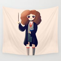 hermione Wall Tapestries featuring Leviosa by Nan Lawson