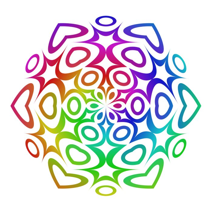 Rainbow ornament Duvet Cover