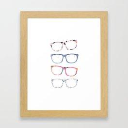 Bespectacled // Watercolor Glasses Print Framed Art Print