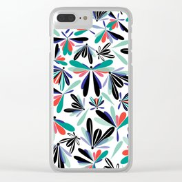 Colored poster small insects, butterflies, dragonflies, spring invitation Clear iPhone Case