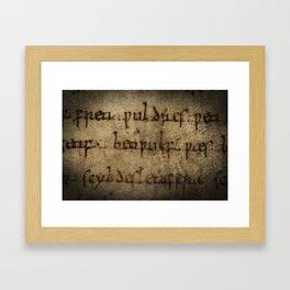 Beowulf's name Framed Art Print