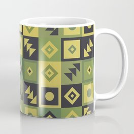 Retro Geometric Tile Pattern Coffee Mug