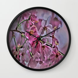 Pink Blossoms - paint rendition Wall Clock
