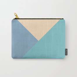 Green and blue and beige triangular pastel background Carry-All Pouch