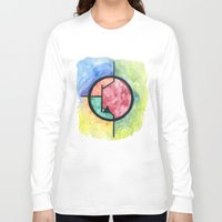 transistor Long Sleeve T-shirts featuring Watercolor NPN BJT by EEShirts