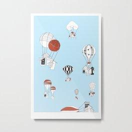A Minihouse Balloon Launch Metal Print