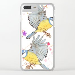 Two bluetits Clear iPhone Case