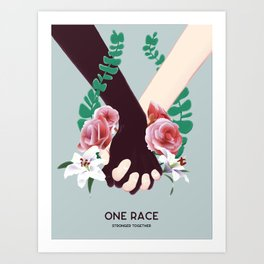 One Race Art Print