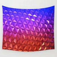 spaceship Wall Tapestries featuring Colors of Spaceship Earth by Dragons Laire