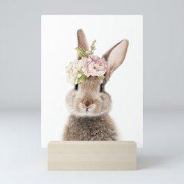 Foral Peek-a-boo Bunny Mini Art Print