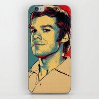 dexter iPhone & iPod Skins featuring Dexter by Above & Beyond Graphic Studios