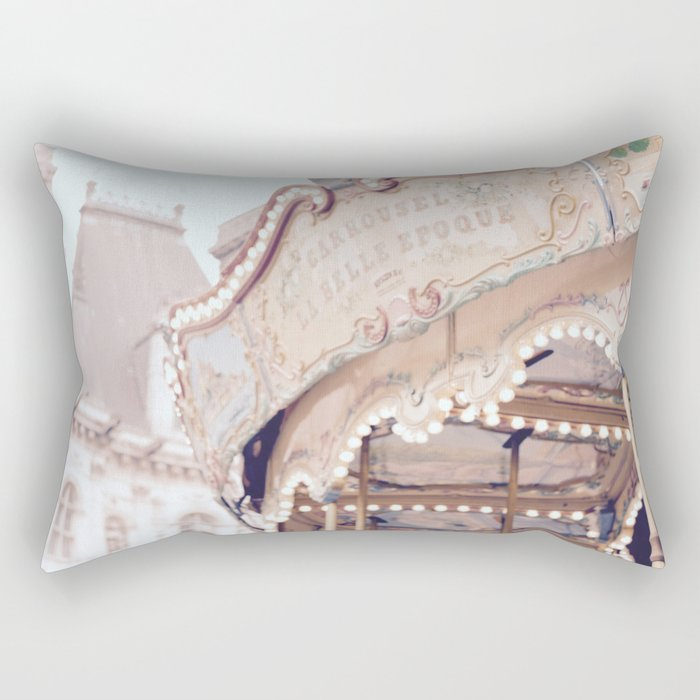 Classic Paris French Carousel Rectangular Pillow