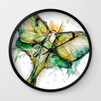 luna lovegood Wall Clocks featuring Luna by Abby Diamond