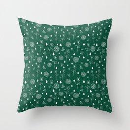 Flowers an Raindrops Throw Pillow