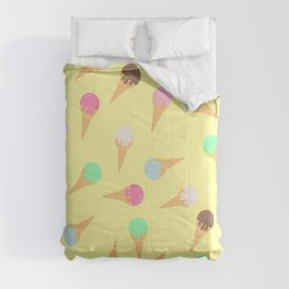 Colorful ice creams pattern Comforters