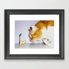 Who's the Big Cat Now? Framed Art Print