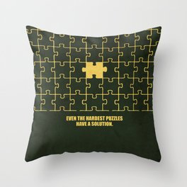 Lab No. 4 -Even The Hardest Puzzles Have A Solution Corporate Start-Up Quotes Throw Pillow