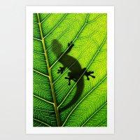 lizard Art Prints featuring Lizard by Nicklas Gustafsson