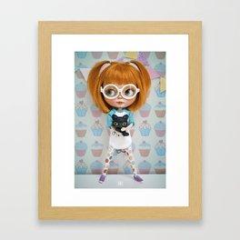 Erregiro Blythe Custom Doll Carmencita & Sócrates Framed Art Print