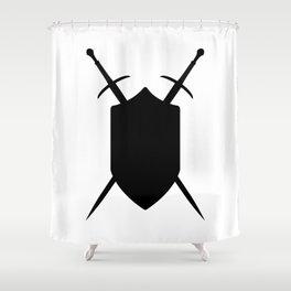 Crossed Swords Silhouette Shower Curtain