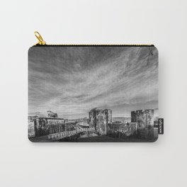 Caerphilly Castle Panorama Monochrome Carry-All Pouch
