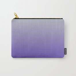 Soft Purple Grey Ombre Carry-All Pouch