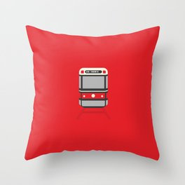 Toronto City Streetcar Throw Pillow
