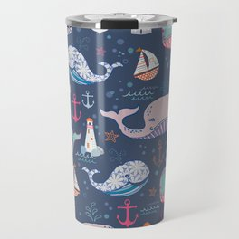 Whale Toss Travel Mug