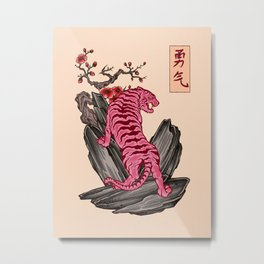 Japanese Courage Tiger Metal Print