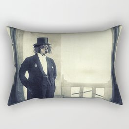 distinguished dog Rectangular Pillow