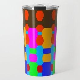 """Midnight Queue"" (Geometric Flat) Travel Mug"