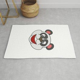 Funny Disguise Tshirt Design I'm really a panda Rug