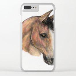 Horse head, equestrian, original art print Clear iPhone Case