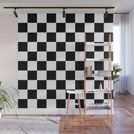 Checker Cross Squares Black & White Wall Mural