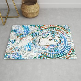 Glass stain mosaic 9 - Virgin Mary, by Brian Vegas Rug