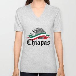 Chiapas Mexico - Puro Chiapas Flag Eagle Unisex V-Neck