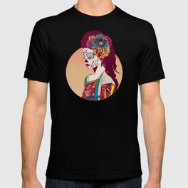 Mexican Skull Lady T-shirt