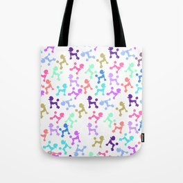 Modern whimsical neon color cute fashion poodle Tote Bag