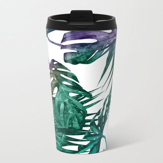 Tropics Tropical Jungle Island Pattern Metal Travel Mug