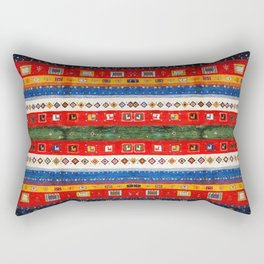 Bohemian Chic Traditional Andalusian Moroccan Artwork Rectangular Pillow