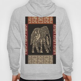 African Tribal Pattern No. 40 Hoody