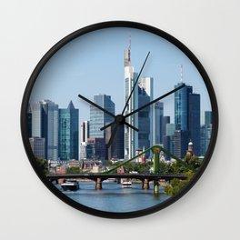 Frankfurt Skyline Wall Clock