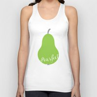 """onesie Tank Tops featuring Pear Green Onesie """"Pearfect"""" by Spilling Beans"""