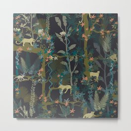 Tropical wild animals in the jungle Metal Print