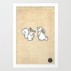 Friends. Art Print