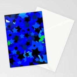 Punk Rock Stars Blue Stationery Cards